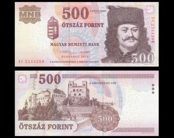 hungary, P-196e, 500 forint, 2013