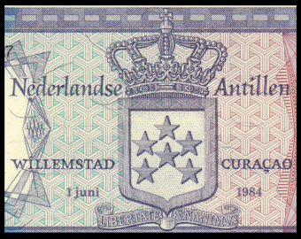 Netherlands Antilles, P-15b, 5 gulden, 1984