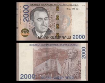 Armenia, P-new, 2000 dram, 2018