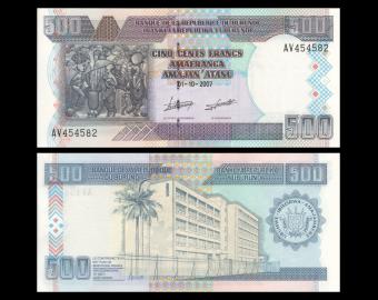 Burundi, P-38d, 500 francs, 2007
