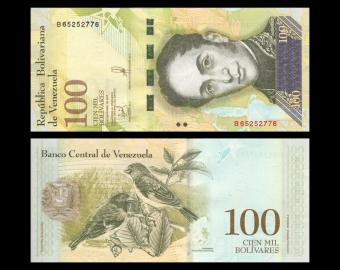 Venezuela, P-100d, 100000 bolivares, 2017