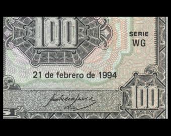Ecuador, P-123Ac, 100 sucres, 1994