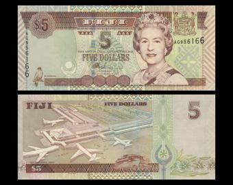 Fidji, P-105b, 5 dollars, 2002
