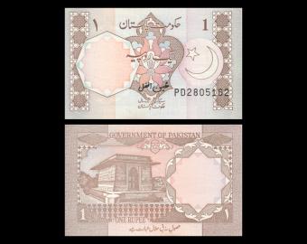 Pakistan, P-26b, 1 rupee, 1982
