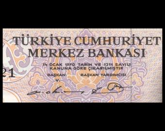 Turquie, P-188a, 50 türk lirası, L.1970