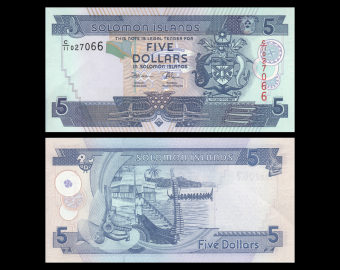Solomon Islands, P-26d, 5 dollars, 2018, Presque Neuf / A-UNC