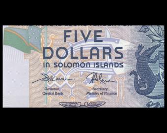 Solomon Islands, P-26d, 5 dollars, 2018