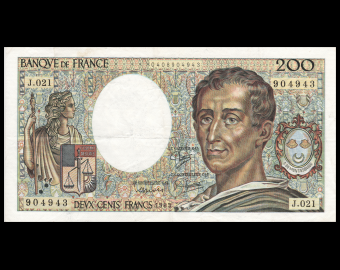 France, P-155a, 200 francs, 1983, TB / Fine