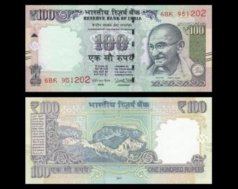 India, P-105new, 100 rupees, 2017
