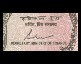 India, P-117c, 1 rupee, 2017