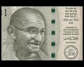 India, P-114h, 500 rupees, 2016