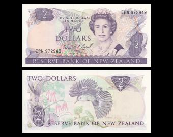 Nouvelle Zélande, P-170c, 2 dollars, 1992