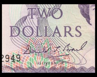 New Zealand, P-170c, 2 dollars, 1992