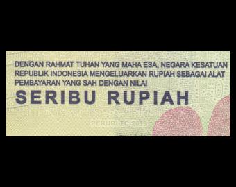 Indonésie, P-154c, 1000 rupiah, 2018