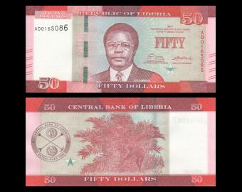 Liberia, P-34b, 50 dollars, 2017