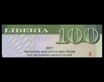 Liberia, P-35b, 100 dollars, 2017