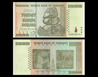 Zimbabwe, P-86, 20 milliards dollars, 2008