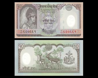 Nepal, P-54, 10 roupies, Polymère, 2005