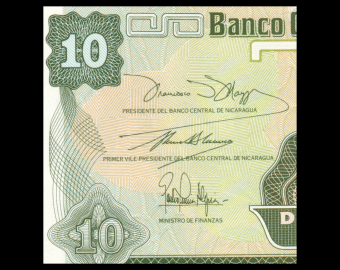 Nicaragua, P-169a, 10 centavos, 1991