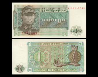 Burma, P-56, 1 kyat, 1972