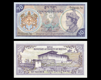 Bhutan, P-15a1, 10 ngultrum, 1986