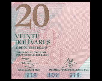 Venezuela, P-091f, 20 bolivares, 2013