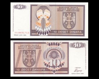 Bosnie-Herzégovine, P-133, 10 dinara, 1992