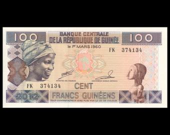 Guinea, P-35b, 100 francs, 2012