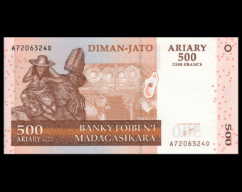 Madagascar, P-088a, 500 ariary, 2004