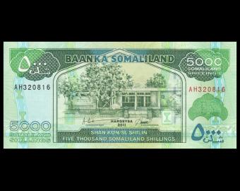 Somaliland, P-21, 5000 shillings, 2011