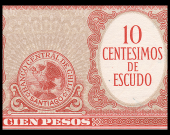 Chile, P-127c, 10 centimos de escudo, 1960-61