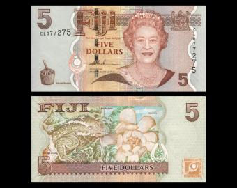 Fiji, P-110a, 5 dollars, 2007