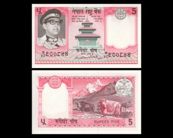 Nepal, p23b, 5 roupies, 1984