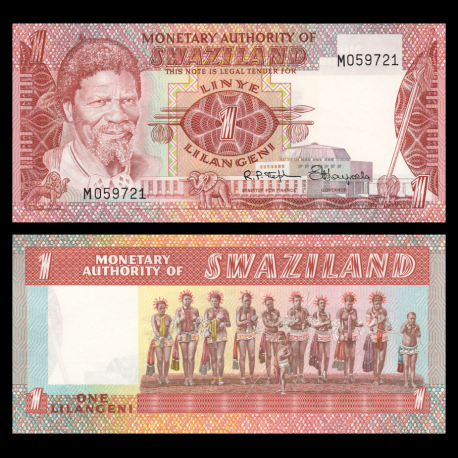 Swaziland, P-01, 1 lilangieni, 1974