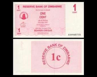 Zimbabwe, P-33, 1 cent, 2006
