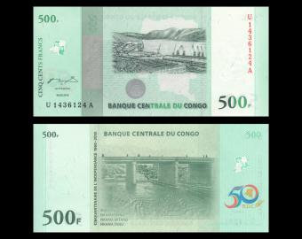 Congo, P-100, 500 francs, 2010