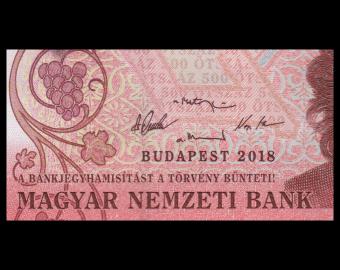 Hongrie, P-new, 500 forint, 2018
