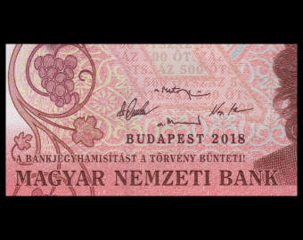 hungary, P-new, 500 forint, 2018