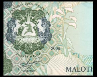 Lesotho, P-16g, 20 maloti, 2009