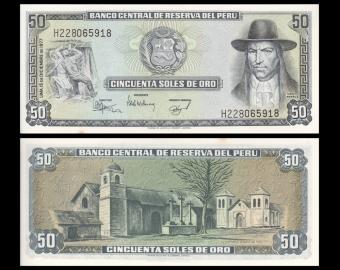 Pérou, P-113, 50 soles de oro, 1977
