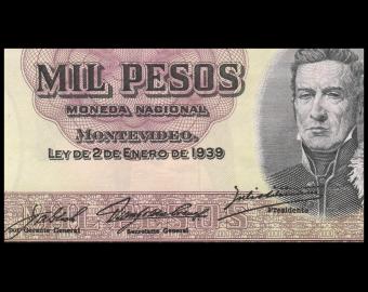 Uruguay, P-41c1, 1000 pesos, 1939, SUP / ExtFine