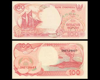 Indonésie, P-127g, 100 rupiah, 1999