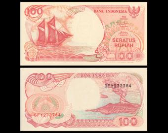 Indonésie, P-127d, 100 rupiah, 1995