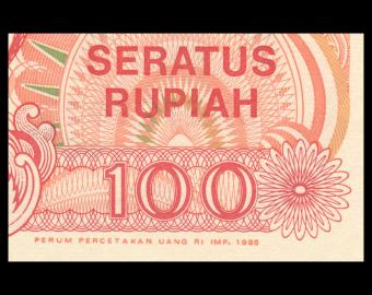 Indonesia, P-127d, 100 rupiah, 1995
