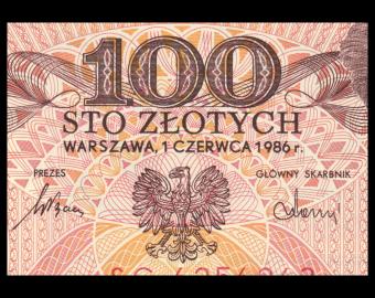 Poland, P-143e1, 100 zlotych, 1986