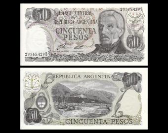 Argentine, P-301a1, 50 pesos, 1976-78