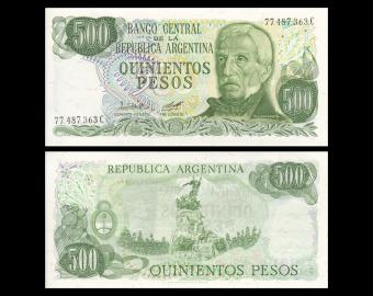 Argentine, P-303a3, 500 pesos, 1982