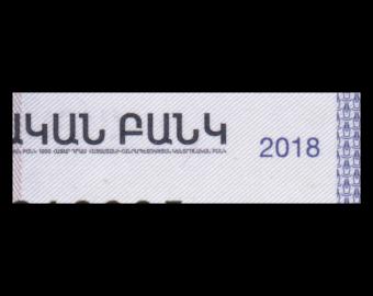 Armenie, P-61, 1000 dram, 2018