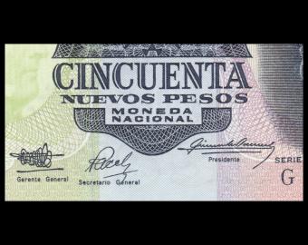 Uruguay, P-61A, 50 peso, 1989