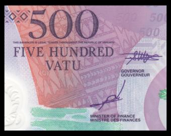 Vanuatu, P-18, 500 vatu, 2017